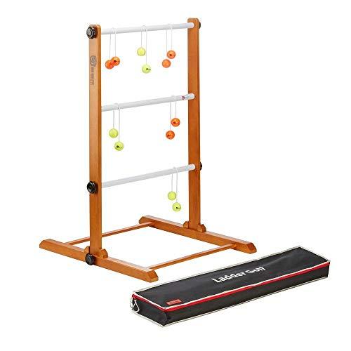 Ubergames Profi Twistladder Leitergolf Fluor Gelb Orange Echte-Golfbälle - Laddergolf Prof-set