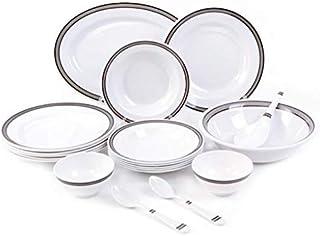 Royalford Melamine, White - Dinnerware Set