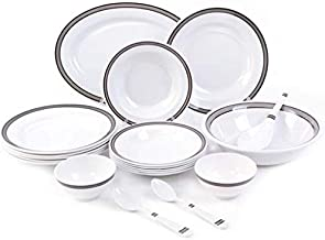 Royalford Melamine, White - Dinnerware Set