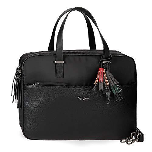 Tasche für Laptop Pepe Jeans Ann Schwarz
