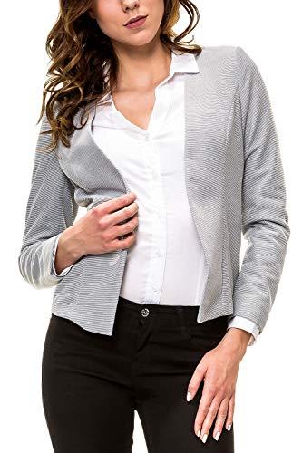 ONLY Damen Blazer Anzugjacke Damenjacke Jackett Übergangsjacke (M, Cloud Dancer/Black)