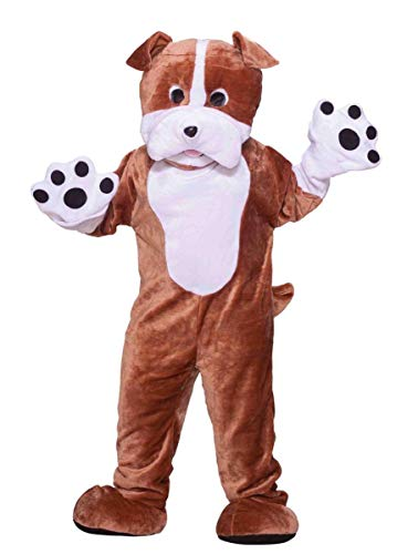 Forum Novelties mens Deluxe Plush Bulldog Mascot Adult Sized Costumes, Brown, One Size US