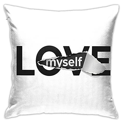 CHISHANG Words Kissenbezüge 18x18 Modern Sofa Dekokissen Cover, Dekorative Outdoon Stoff Kissenbezug für Couch Bett Auto