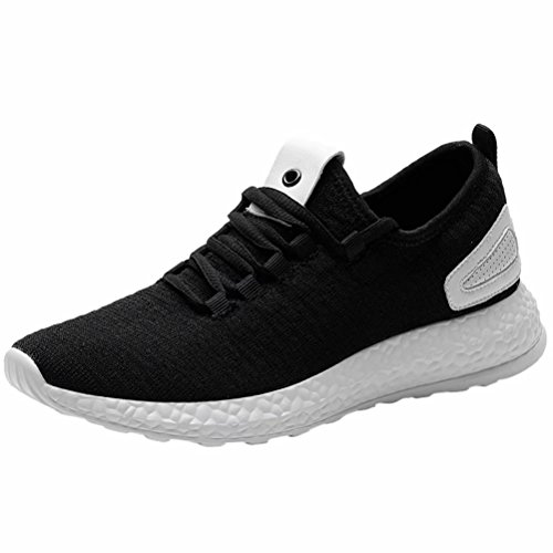 LANCROP Women's Casual Walking Sneakers - Lightweight Breathable Tennis Athletic Running Shoes 9.5 M US Black