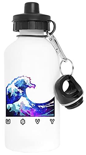W $ Vy Aluminio Blanco Botella de Agua Con Tapón de Rosca Aluminium White Water Bottle With Screw Cap