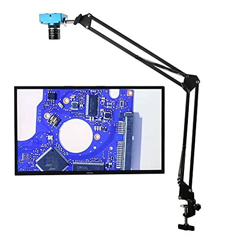 ShiSyan Microscopio Cámara de microscopio HDMI de Video Digital Industrial de 2K 30MP 1080P + Lente de Enfoque Fijo de Campo Visual Grande para reparación de Soldadura por PCB (Color : Brown)