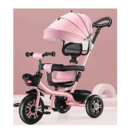 xiaoli Sillas de Paseo Cochecito, para niños Triciclo, Menores de 6 años Luz Bicicleta Bizcocho Bizcocho Cochecitos de automóviles de Almacenamiento Adicional Coche Infantil Cochecito de bebé