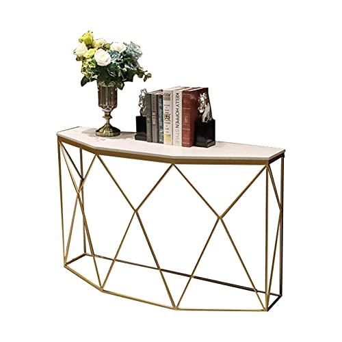 Tavolo Consolle Tavolo Consolle, Decorazione Salotto in Ferro Battuto Oro Tavolo Portico in Marmo, Tavolino Portico Divisorio