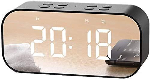 GANE Altavoces Bluetooth Portátiles Inalámbricos, Mini, Pantalla Digital LED y Volumen Ajustable FM Inalámbrico, para Hotel, Oficina, Dormitorio, Viajes
