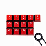 13 Keys Non-Slip Backlit keycaps Gaming Performance FPS MOBA Key Caps OEM Profile for Corsair K70 RGB K95 K65 K68 K63 Mechanical Gaming Keyboards DIY Replace (Red)