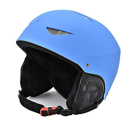 happyhouse009 Fahrradhelm Skaterhelm, Skates Skateboard Elektroroller Helm, Atmungsaktiver Skihelm Wärme Kopfschutz Snowboard Sicherheitskappe Sport Outfit Blue M