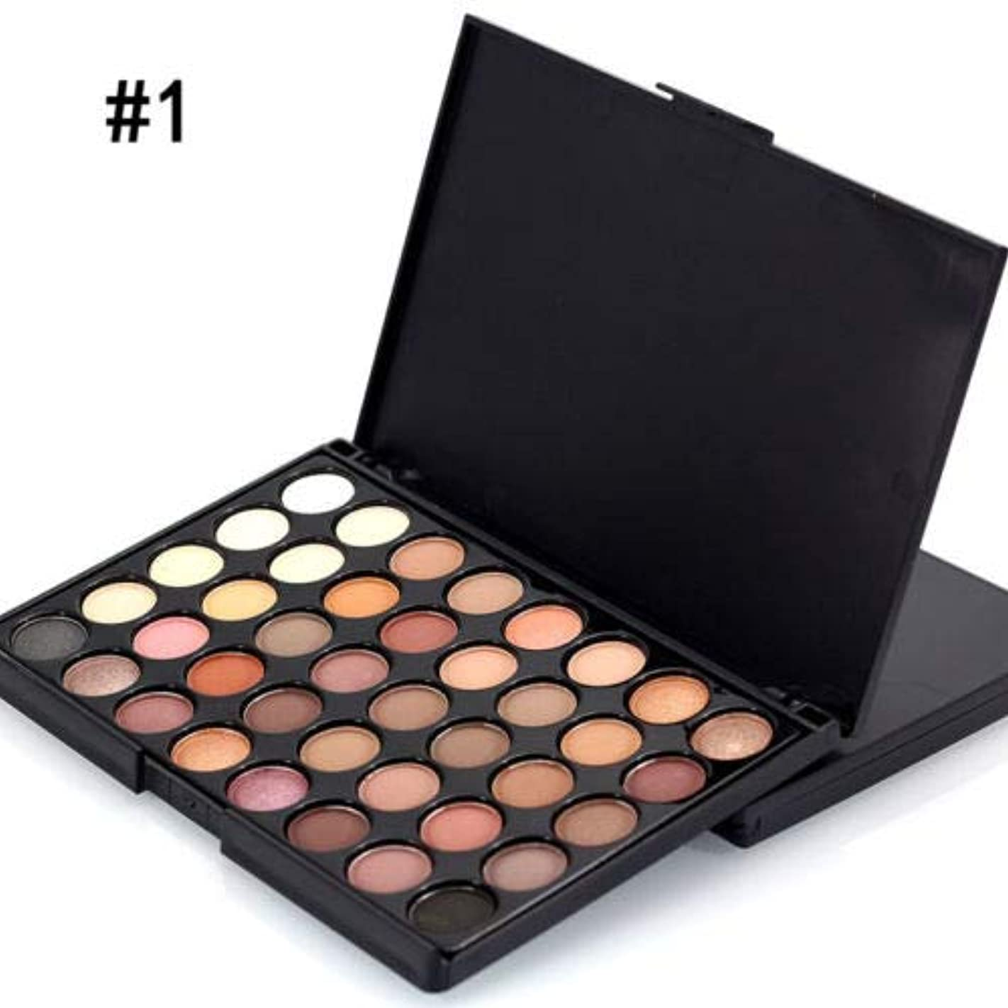 自慢流す残酷FidgetGear 40色化粧品パウダーアイシャドーアイシャドーパレットメイクアップシマーセットマット #1