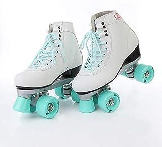 LLFA Women`s Classic Retro 4-Wheel Roller Skates for Women Skateboard Wheel Girl