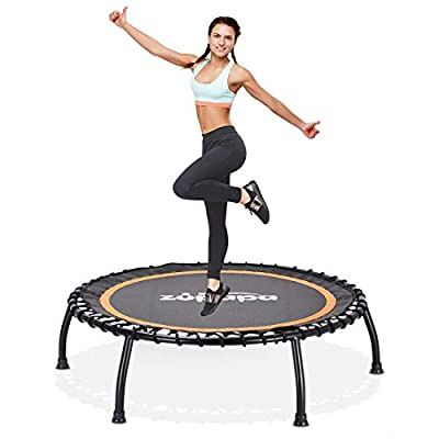Zupapa 40-Inch Fitness Trampoline for Adults and Kids, Mini Silent Fitness Rebounder Trampoline for Indoor Outdoor Garden Workout Cardio Training, Max Load 330 lbs