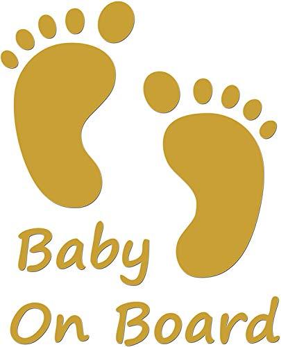 JasonCarlMorgan JCM Grafiken Baby an Bord Aufkleber - Gold, 190mm