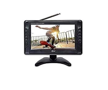 Portable TV 10  Battery Powered Widescreen LCD Small TV Axess TV1703-10 with ATSC Digital Tuner 2 Antennas USB/SD Card & Headphone Inputs AV Inputs & Full Func Remote Mini TV For Car RV Outdoor.