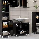 Immagine 1 festnight armadio da bagno nero