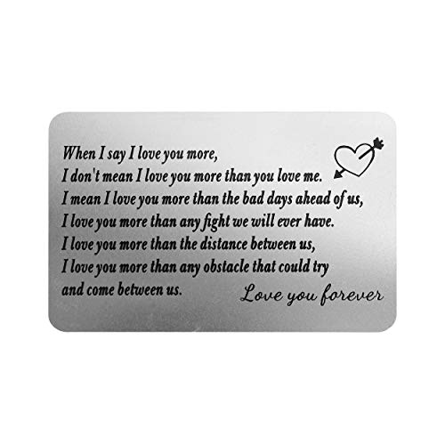 Photo of Personalized Engraved Wallet Cards Him from Wife Girlfriend – Birthday Christmas Anniversary Valentines Day – Love Note Custom Metal Card Insert for Boyfriend Husband