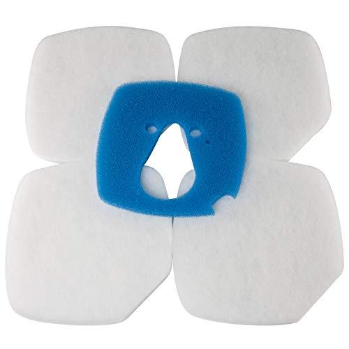 LTWHOME Filterschwamm Passend für Eheim Professional 3 2080/2180 (1 Blau und 4 Weiß)
