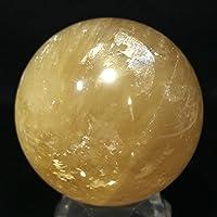 【石流通センター】☆置石一点物☆【置き石】丸玉 ゴールデンカルサイト 約99mm No.53 天然石 パワーストーン