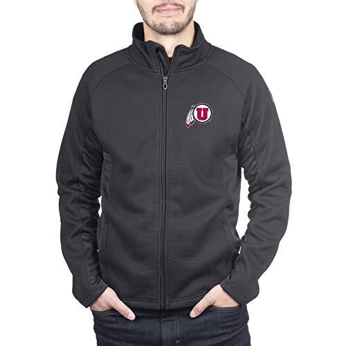 Spyder Utah Utes Men's Constant Full Zip Sweater Black Gameday Jacket, X-Large