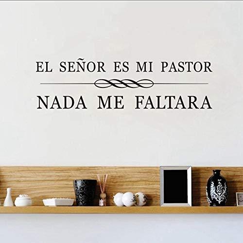 Etiqueta De La Pared Frases Cristianas Españolas Vinilos Adhesivos De