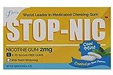 STOP-NIC Nicotine Gum 2mg, Cool Mint, Sugar-free, Stop Smoking Aid,