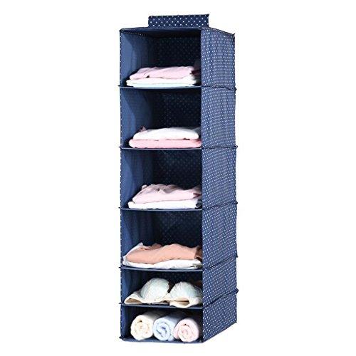 Sacs de rangement Xuan - Worth Another de Garde-Robe de Tissu Bleu-Marine Multi-Couche accrochant Le Sac de Stockage de vêtements Sac de Finition Sacs de Stockage Boîte de Rangement