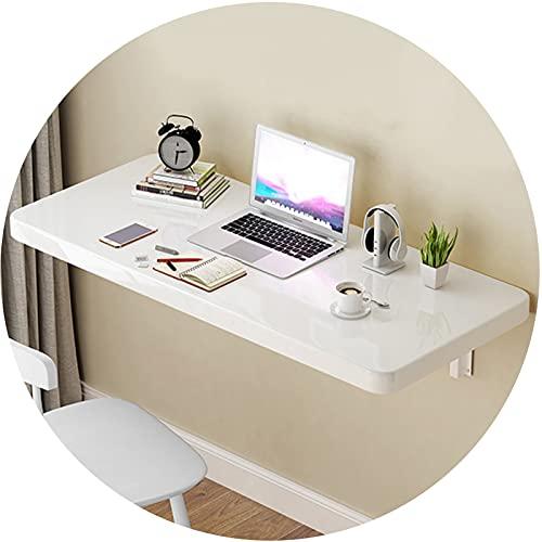 ZWYSL Mesa de Ordenador Plegable Montada en la Pared Fácil de Instalar para Estudio, Cocina, Cena, Bar Escritorio Flotante, Blanco 20 Tamaños (Color : White, Size : 50×40cm)
