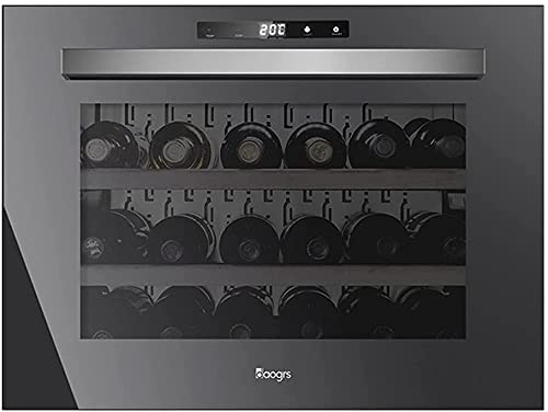 FREEZYMAN Built-in 16-Bottle Wine Cooler, LED Electronic Constant Temperature Wine Cooler, Independent Wine Cellar, Small Home Ice Bar (Color : Black, Size : 595575445mm)