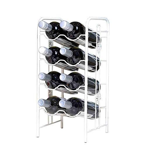 HJXSXHZ366 Estante de vino montado en la pared para almacenamiento de vino para bar, sótano, bodega, cocina, comedor, etc. Pequeño estante de vino (color: blanco, tamaño: 22 x 23 x 48 cm)