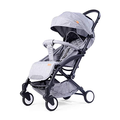 New Baby Stroller, Ultra-Light Stroller, Can Sit Reclining Folding Portable Stroller, Baby Car (Colo...