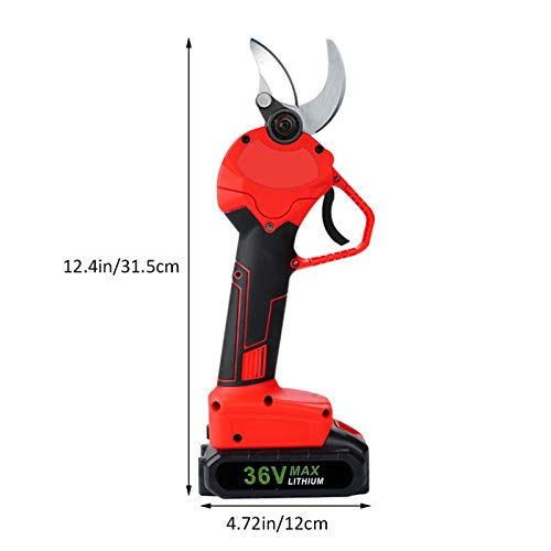 Cordless Pruning Shears, 36V Professional Electric Secateurs with 2X Rechargeable Lithium Battery 1x Adaptor & 2X Wrench