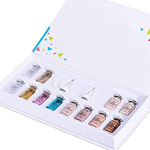 Anti Aging Kit Esencia, Esencia de la cara de maquillaje líquida Primer Fundación Anti arrugas y el acné Conjunto para la piel facial cuidado de la belleza (Esencia + Fundación)