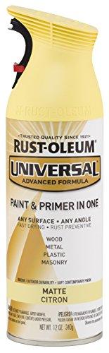 Rust-Oleum 282813 Universal All Surface Spray Paint, 12 oz, Matte Citron