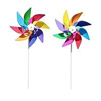 SimpleLife色とりどりの庭風車風スピナー子供のおもちゃ芝生庭ヤードパーティーの装飾屋外手作り