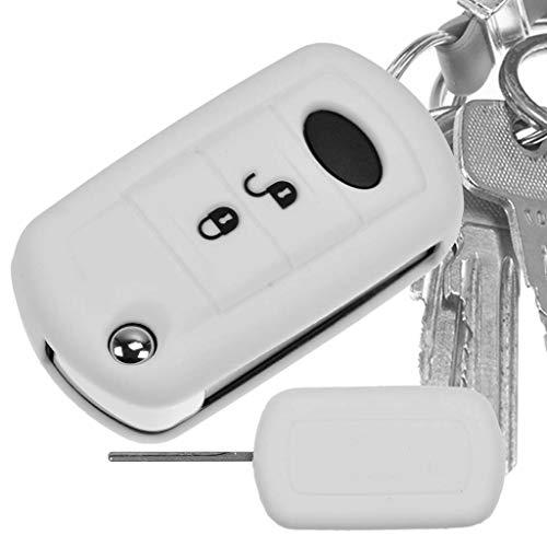 Auto Schlüssel Hülle Silikon Schutz Cover Weiß für Land Rover Range Rover Dicsovery LR3