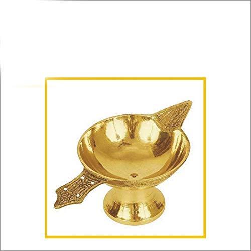 Generic Sataanreaper Präsentiert Reines Messing Akhand Laxmi Deepak Diya Set Von 1# Sr-034