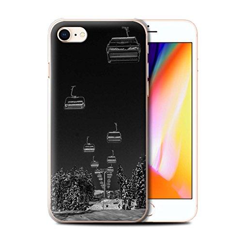 Stuff4 Hülle/Case für Apple iPhone 8 / Ski Aufzug Muster/Skifahren/Snowboard Kollektion