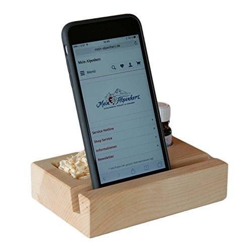 Mon cœur de Alpes le bois de pin Pin Housse Support Téléphone Portable avec Bio Huile Essentielle – La main