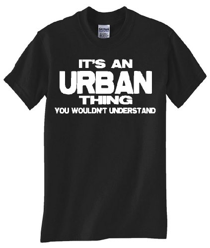 STUFF WITH ATTITUDE Urban Thing Black TEE Shirt (Large)