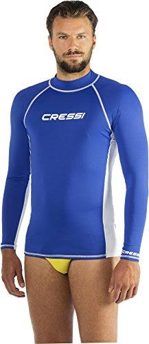 Cressi Herren Rash Guard, Protection Solaire UV (UPF) 50+, Blau (Königsblau/Weiß), Gr. XXL/6