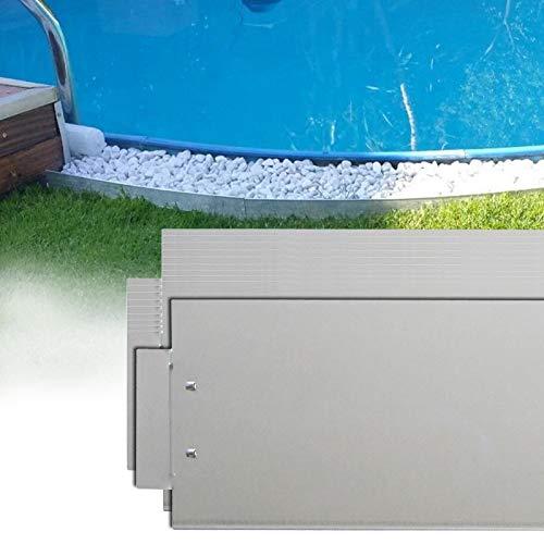 LZQ Rasenkante 5m 10m 15m 20m 30m 40m 50m x18cm verzinkt Beeteinfassung Beetumrandung Mähkante Metall Palisade Länge: 20 m - Höhe: 18 cm