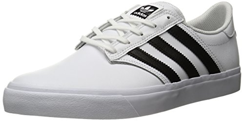adidas Originals Men's Shoes | Seeley Premiere Fashion Sneakers, White/Black/White, (4.5 M US)