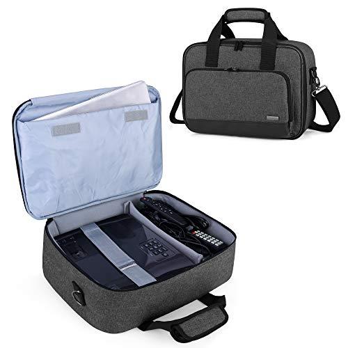 Luxja Borsa per Videoproiettore con Custodia per Laptop, Borsa per BenQ, Optoma, Epson e Acer Proiettore, Custodia per Proiettore e Accessori, 39.4 CM x 28 CM x 13.5 CM, Nero