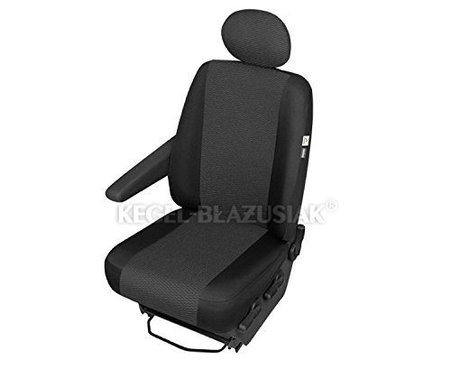 ZentimeX Z967638 Sitzbezüge Fahrersitz/Einzelsitz Armlehne rechts Stoff schwarz Airbag-Kompatibel