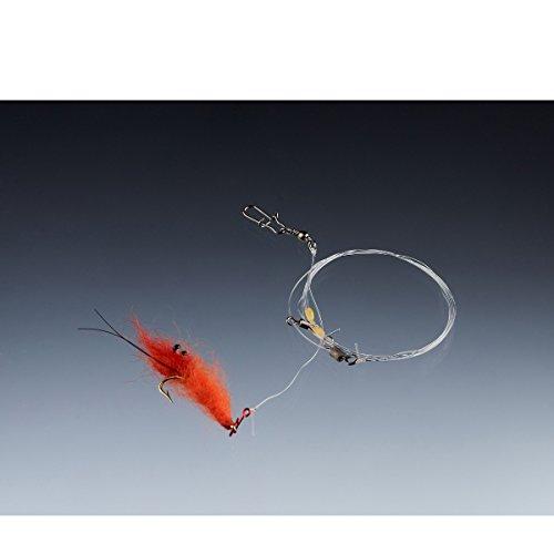 Balzer Meerforellenvorfach Shrimp 85cm 0,28mm Gr. 6 - Meeresvorfach zum Spinnangeln auf Meerforellen, Montage für Forellen