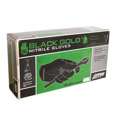 Black Nitrile Gloves - 4mil - Powder & Latex Free - Case of 10 Boxes (Medium)