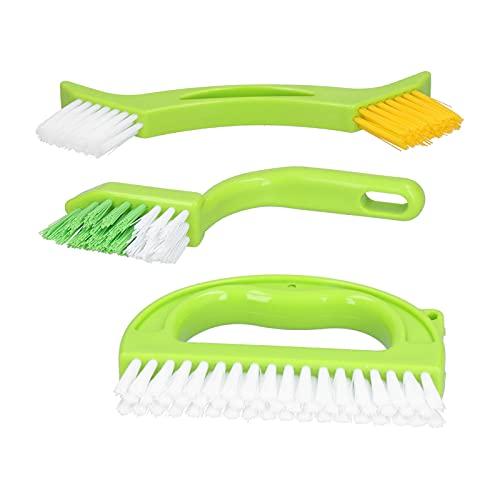 El cepillo para juntas de tierra, multifunción se puede colgar el cepillo de limpieza 4 piezas para el baño/cocina