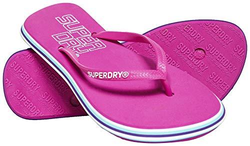 Superdry Neon Rainbow Sleek Flip Flop, Chanclas Mujer, Rosa (Sienna Pink L6b), 38/39 EU